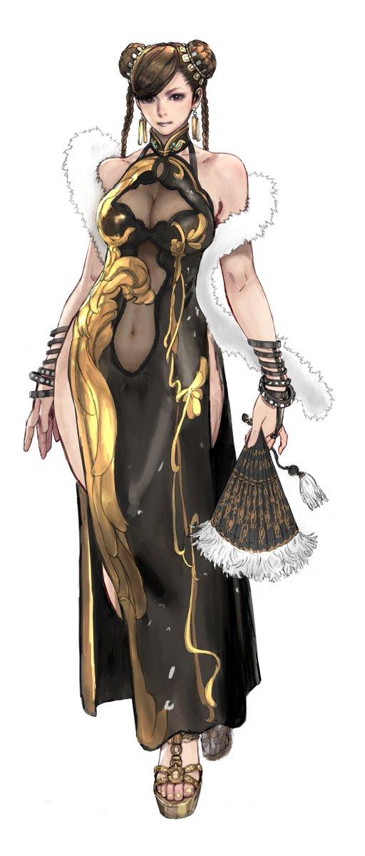 ストリートファイター5の着せ替えように描いた春麗さん衣装です〜