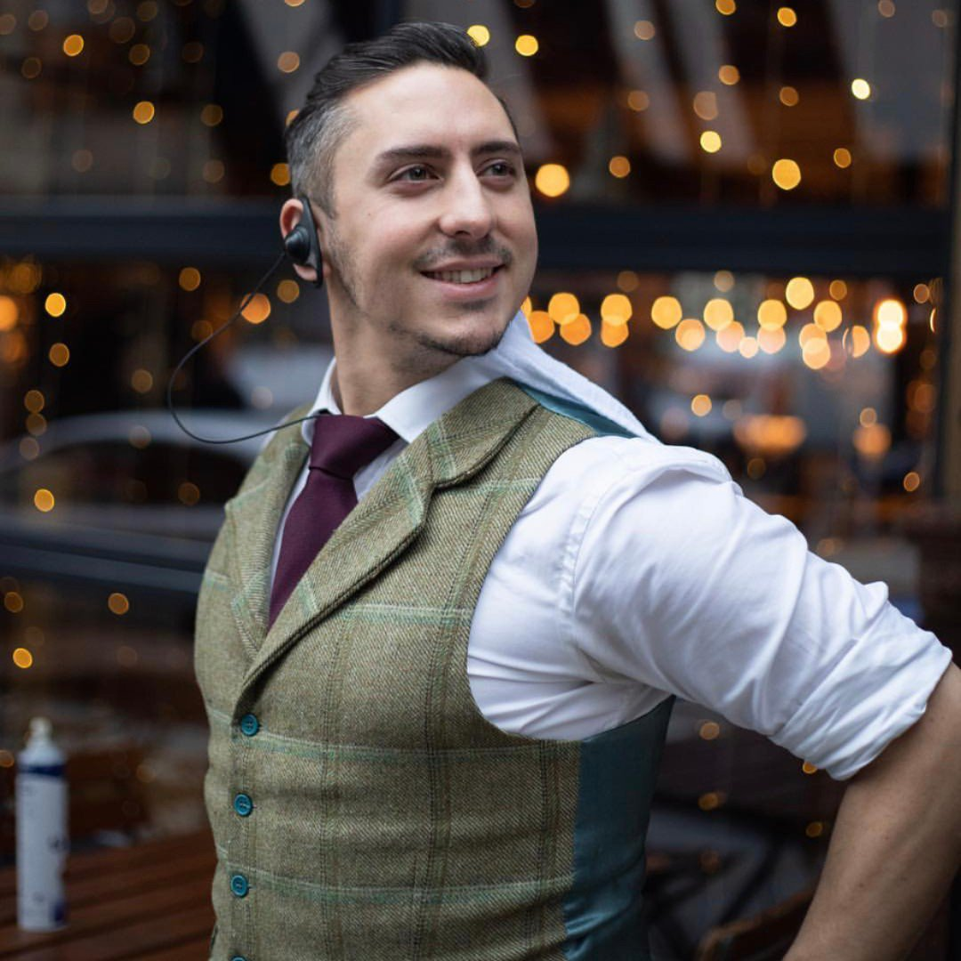 W E L C O M E  T O  S H I F T Legend of the Schloss, Christian, brings fun, passion and energy to every shift. 'Guests are here to have fun. It's why we're here. Of course we work hard, but being fun is one of our values. I love that having a good time is what I do for a living!'