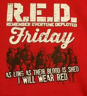 #RedFriday Remember Everyone Deployed <br>http://pic.twitter.com/7Rr31kB4la