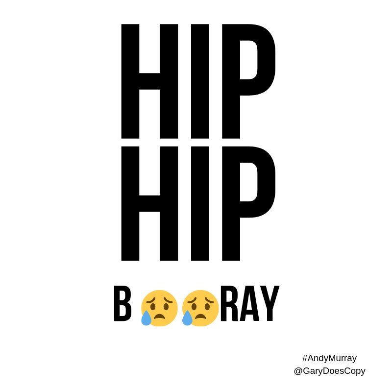 Hip, hip, booray #ThankYouAndy #MurrayRetirement #AndyMurray @OneMinuteBriefs @andy_murray<br>http://pic.twitter.com/sJIngj4HFw