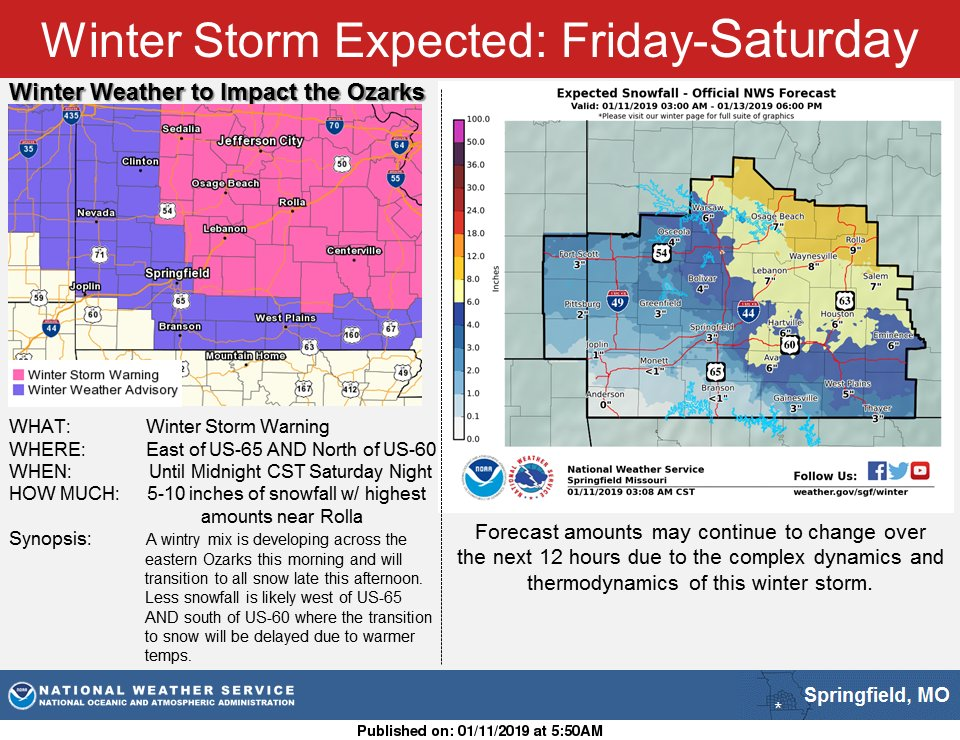 NWS Springfield's photo on Winter Storm Warning