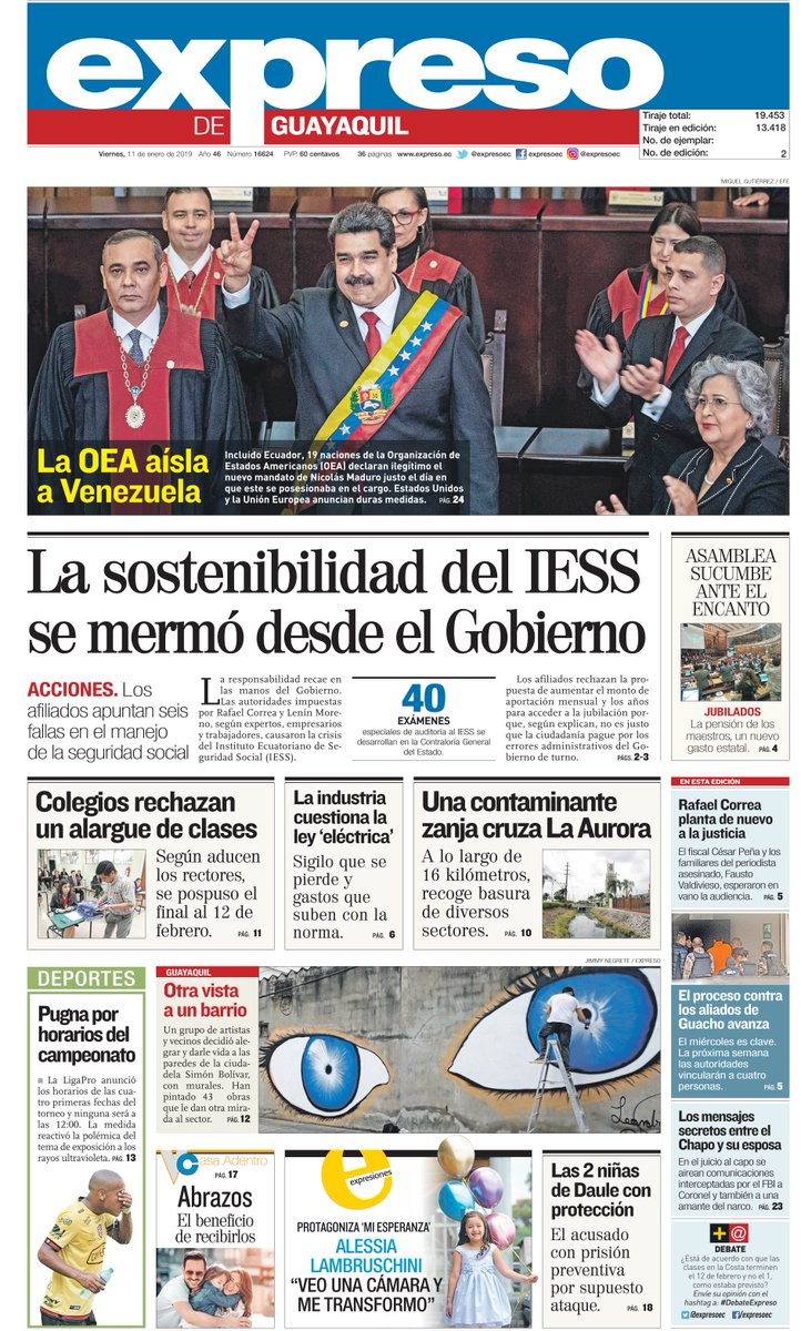 Diario Expreso's photo on Viernes 11