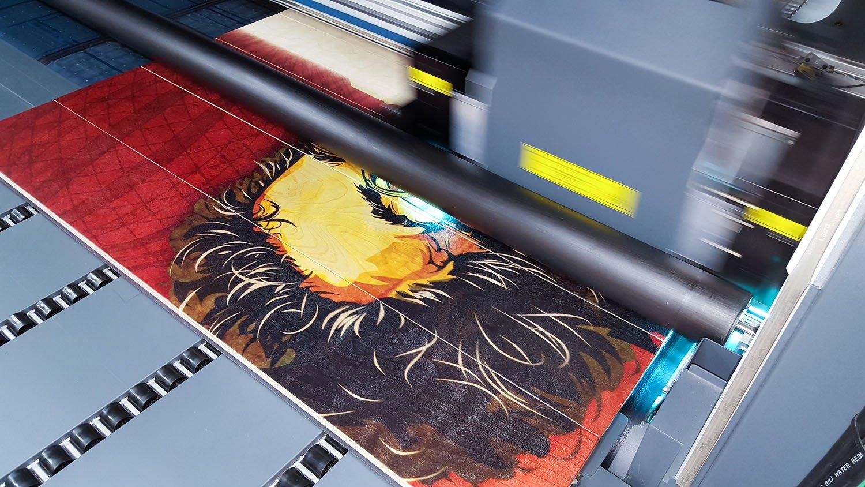 печать постера сокол