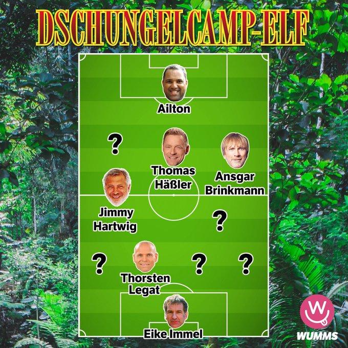 Sechs Ex-Fußball-Profis waren schon im Dschungelcamp. Wer könnte künftig die Lücken in der Traum-Elf füllen? #IBES #IBES2019 Foto