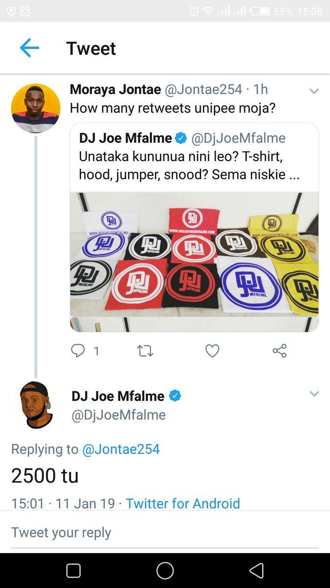 Leo acha niombe retweets wang'wana.  .saidieni hapa  @Opesh_ @OsamaOtero @ItsBravin @Sam_Lulli @iamlegitdaily @ItsOrapak @22Orapak @ItsKubasu @BabuMmoja @Crazy_Nairobian @DorynMarl @Elkanakipngeno @omwami_Shilton  . . .  . . @DjJoeMfalme