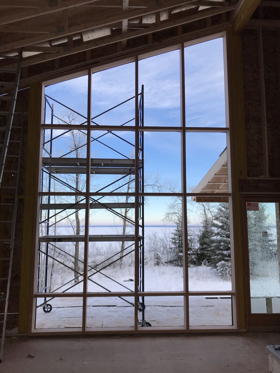 Loewen Windows On Twitter Cold Weather Install For Our Timber