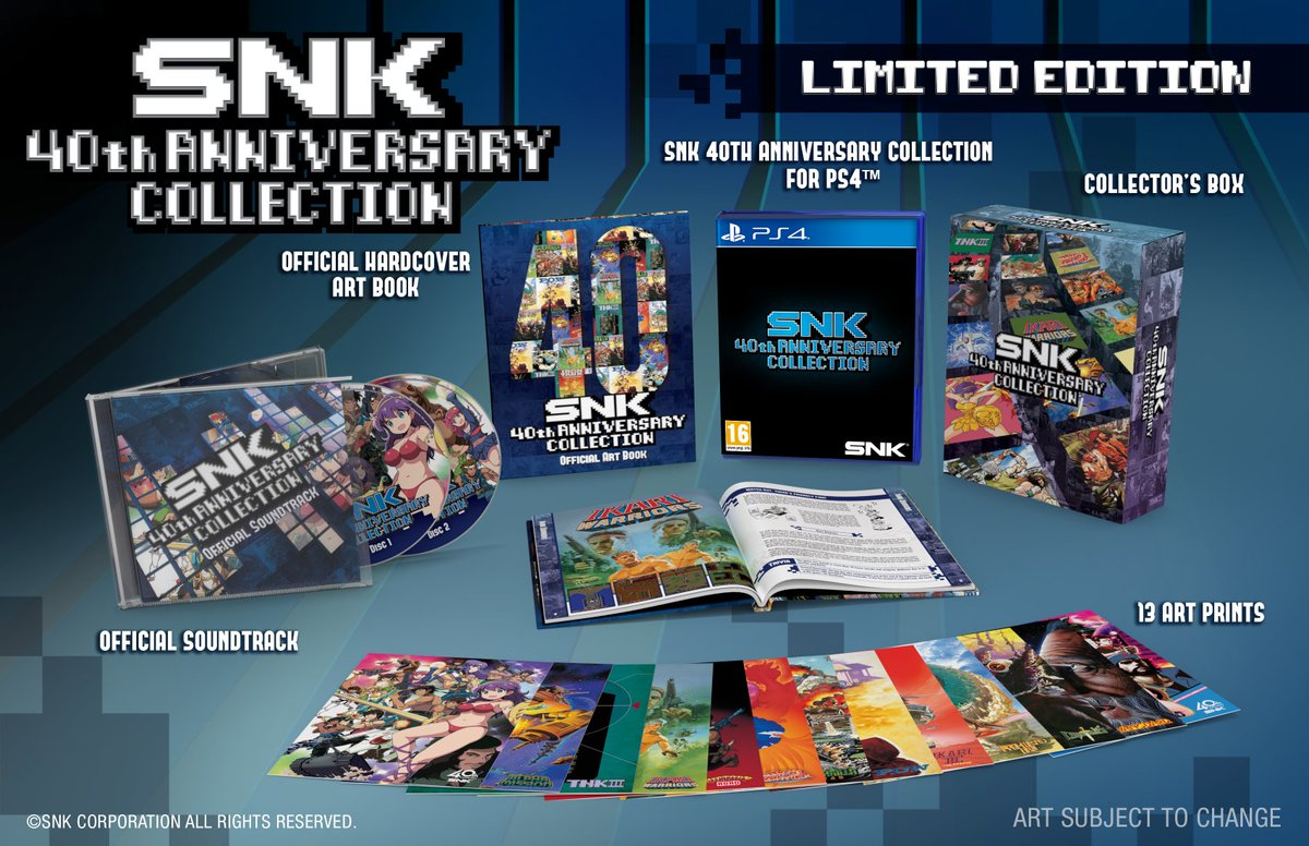 16ad520753b Pre-orders for SNK 40th ANNIVERSARY COLLECTION (PS4) Limited Edition are now  available on the NISA Europe Online Store! Pre-order here ...