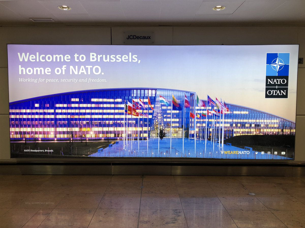 First full work-week of 2019 down!  As @BrusselsAirport continues to remind travellers every day, #NATO is here to work for peace, security &amp; freedom. It's going to be a busy year.  #FridayFeeIing <br>http://pic.twitter.com/LKeeqSlU2G &ndash; à Brussels Airport (BRU)