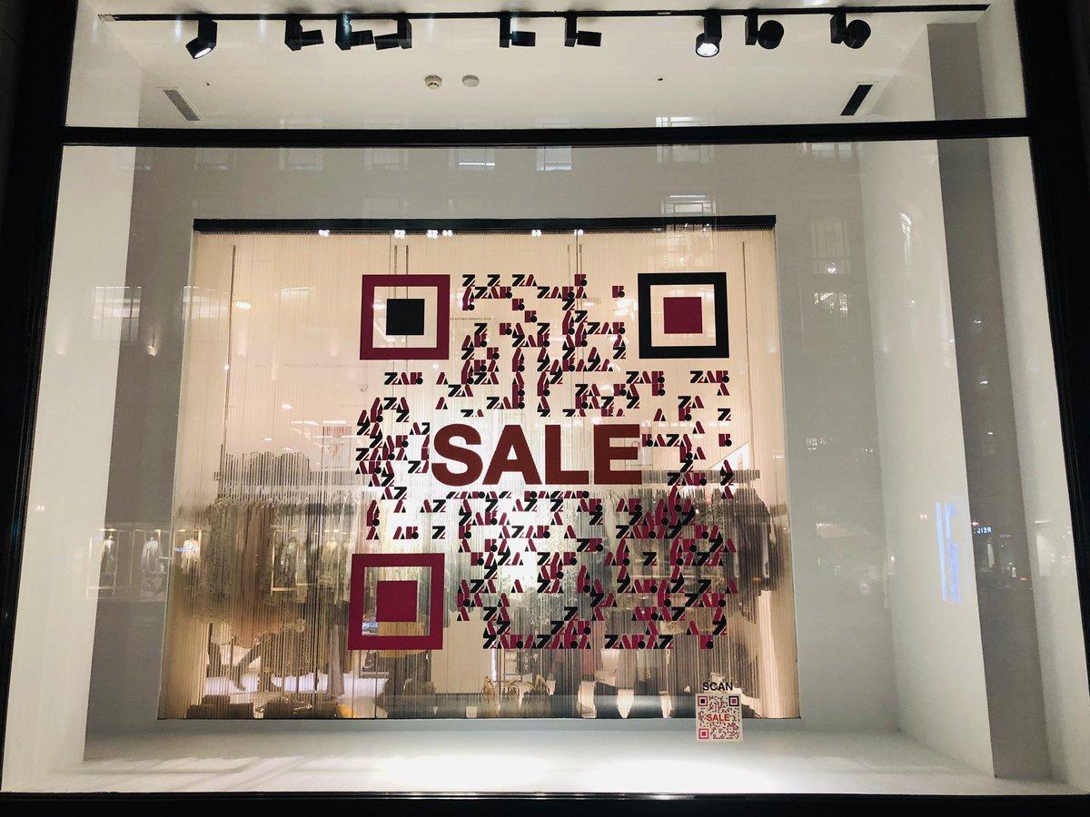 qr codes in retail zara