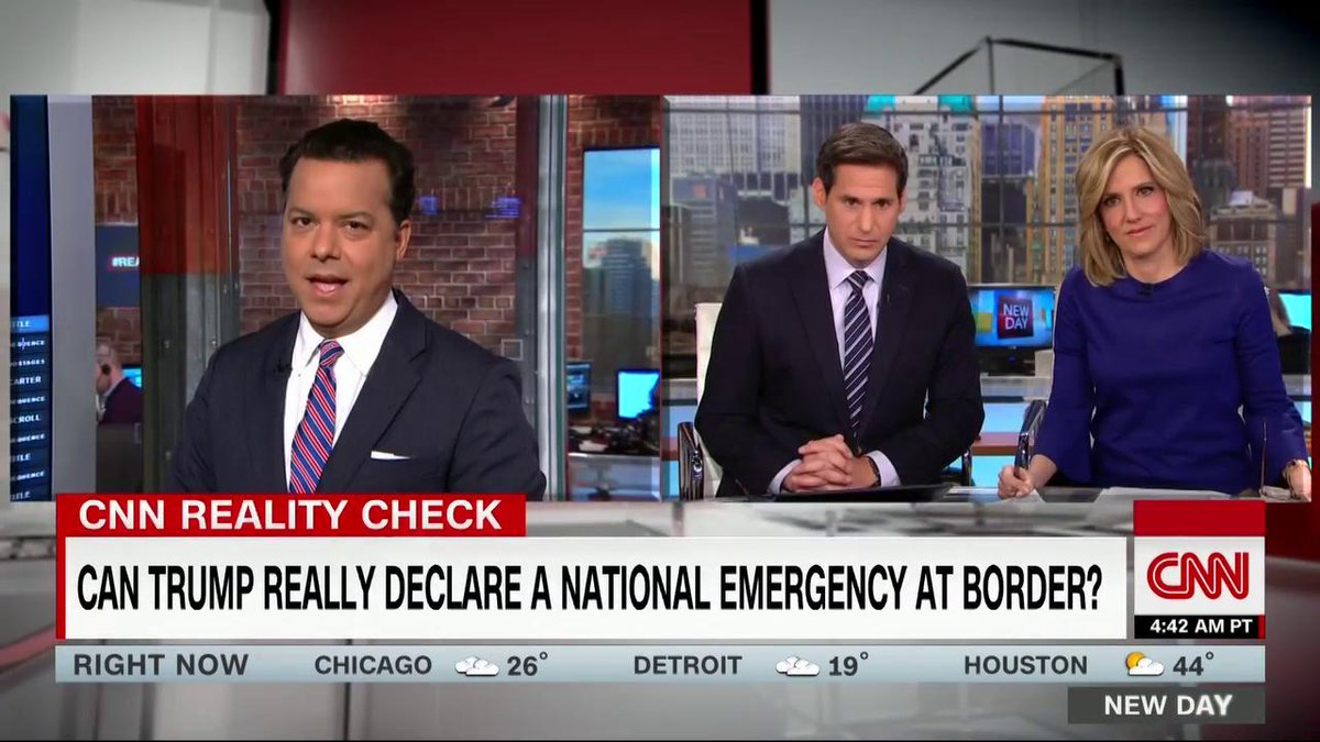 """You might be surprised to learn we're all living under 31 states of emergency. In fact, America's been under an endless state of emergency for at least the past 40 years.""  Can Trump really declare one at the border? #RealityCheck."