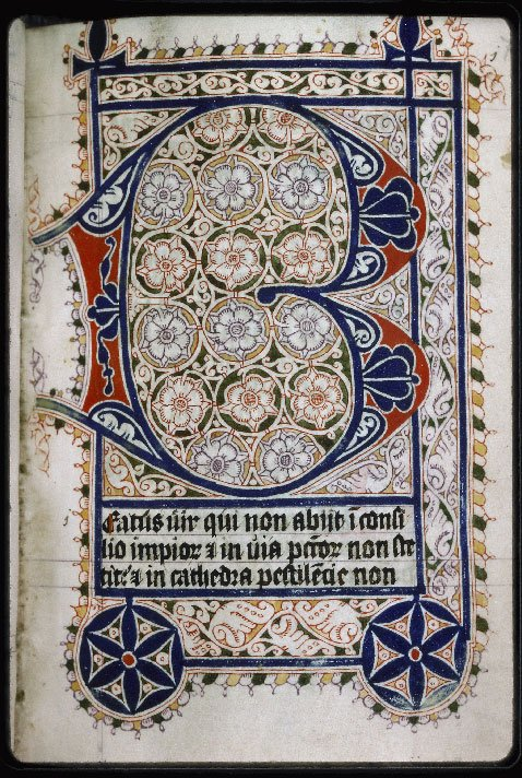 A pretty #manucript page for your #FridayMotivation   Auxerre, Cath., n°013  (Psalter) 15thc. Probably belonging the convent of Binderen, Bois-le-Duc <br>http://pic.twitter.com/mK3MCL3zRe