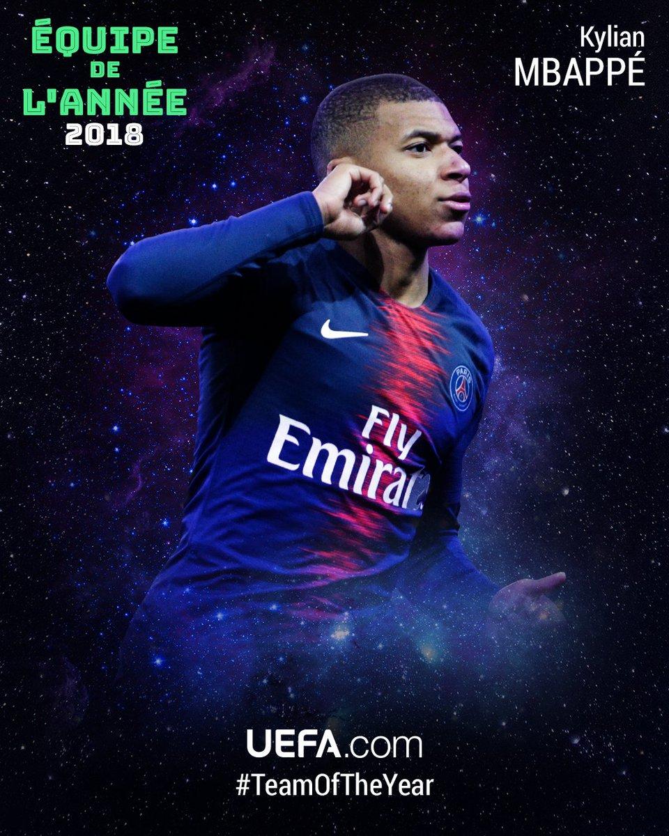 👏👏👏 @KMbappe (@PSG_inside) deuxième plus jeune joueur de l'Histoire présent dans votre #TeamOfTheYear!