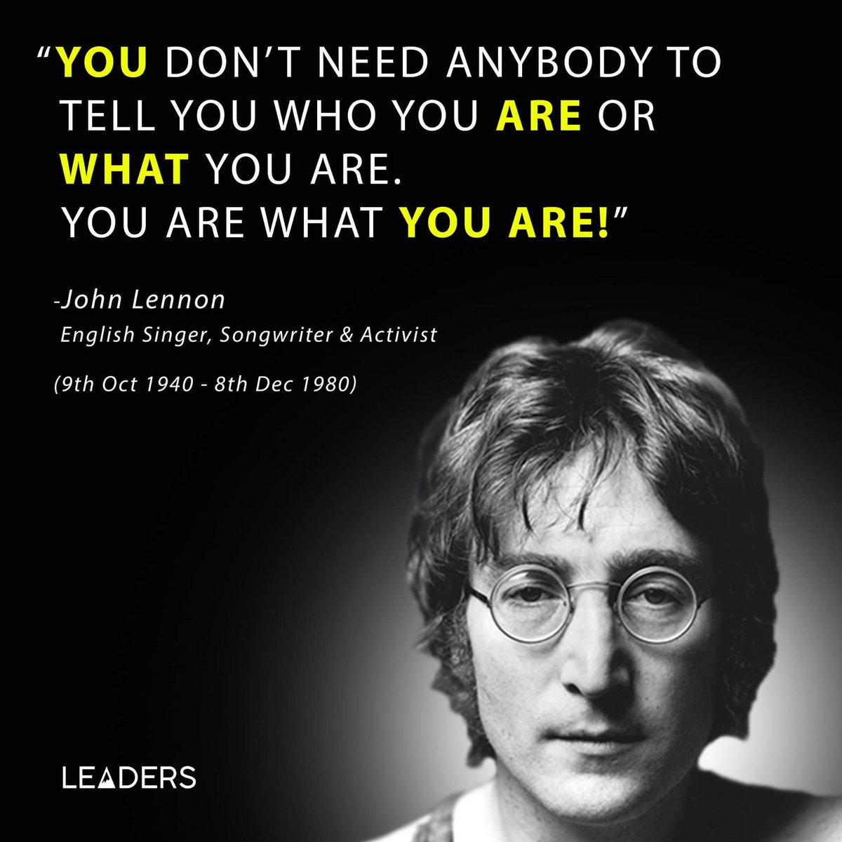 Leaders On Twitter You Dont Need Anybody To Tell You Who You Are
