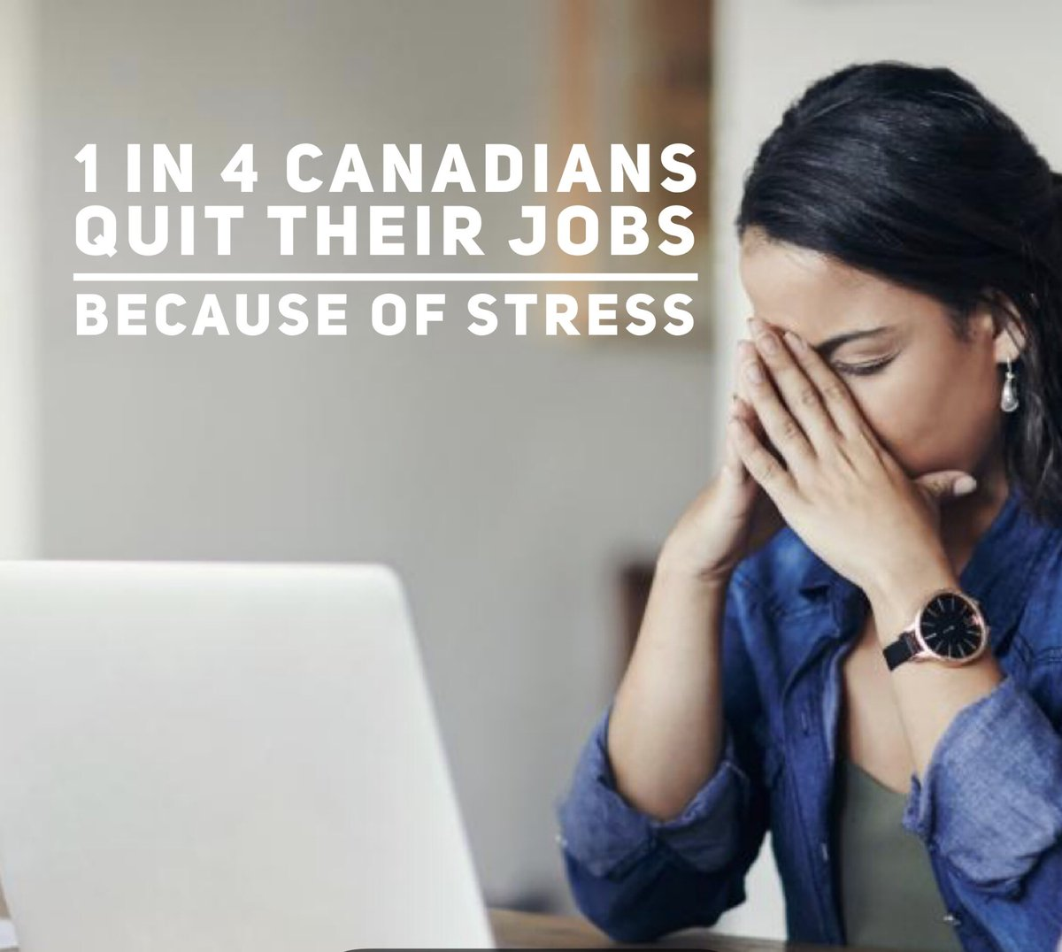 1 in 4 Canadians quit their job because of stress.  I have been that person more than once. Learning to manage stress & anxiety is a new set of skills our society has not begun developing in our youth.  #stress #stressrelief #stressedout #anxietyissues #anxietysucks #stresscoach