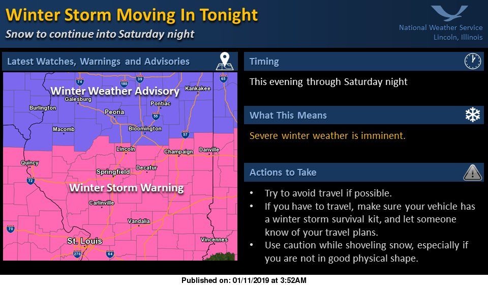 Champaign County EMA's photo on Winter Storm Warning