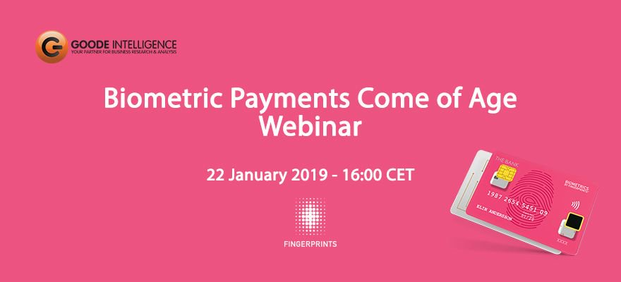 Don't miss this webinar from @goodeintel on January 22, where we'll be discussing the coming of age of #biometric #payments with active players involved in this latest #paymenttech. Find out more here:  https:// buff.ly/2Foxpkl  &nbsp;  <br>http://pic.twitter.com/FYFMgIW6uc