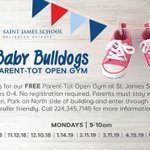 Image for the Tweet beginning: Baby Bulldogs at St. James
