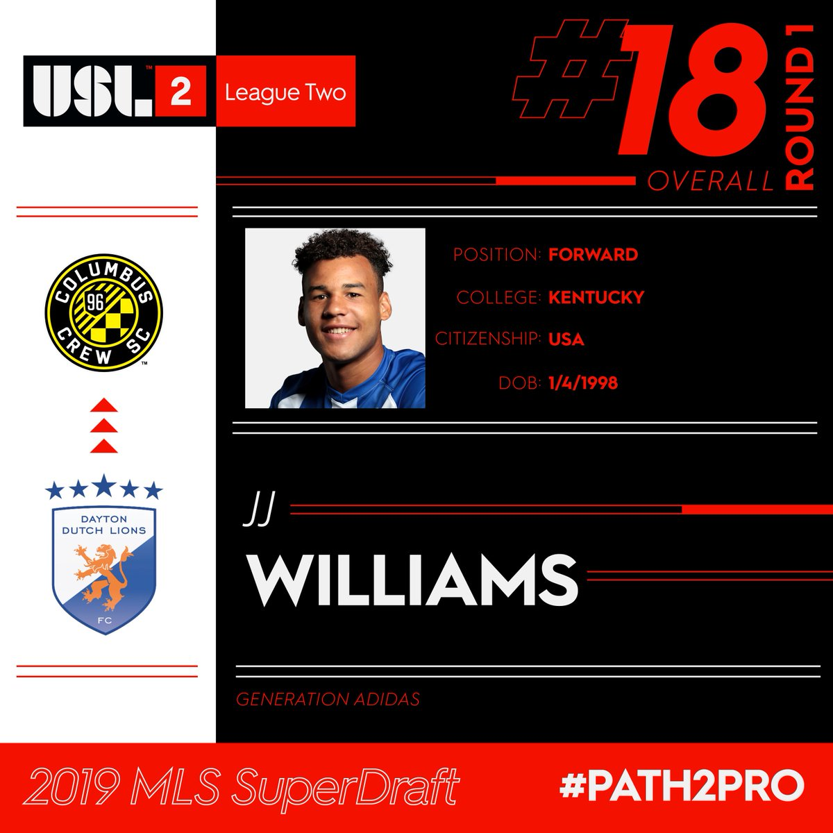 USL League Two's photo on JJ Williams