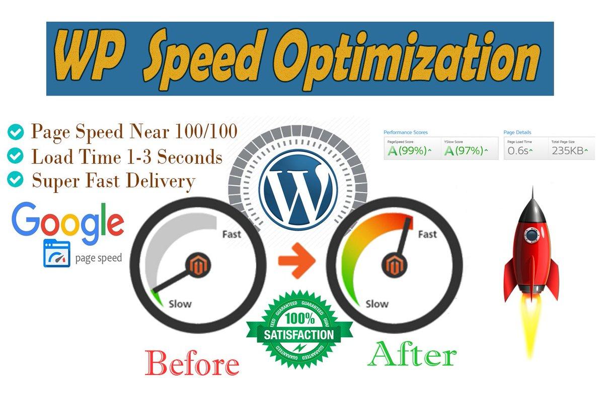 "Shamim Hossen on Twitter: ""#WordPress Speed up service inclu"