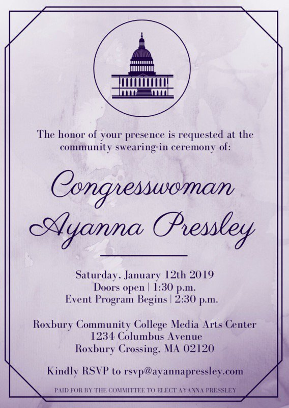 The Voices of Renaissance Chorus will perform at the swearing in ceremony for Congresswoman @AyannaPressley !  Watch here and at http://www.BostonRenaissance.org  for pictures and video from the event!  #VoicesofRenaissance, #BRCPS, #BostonRenaissanceCharterPublicSchool