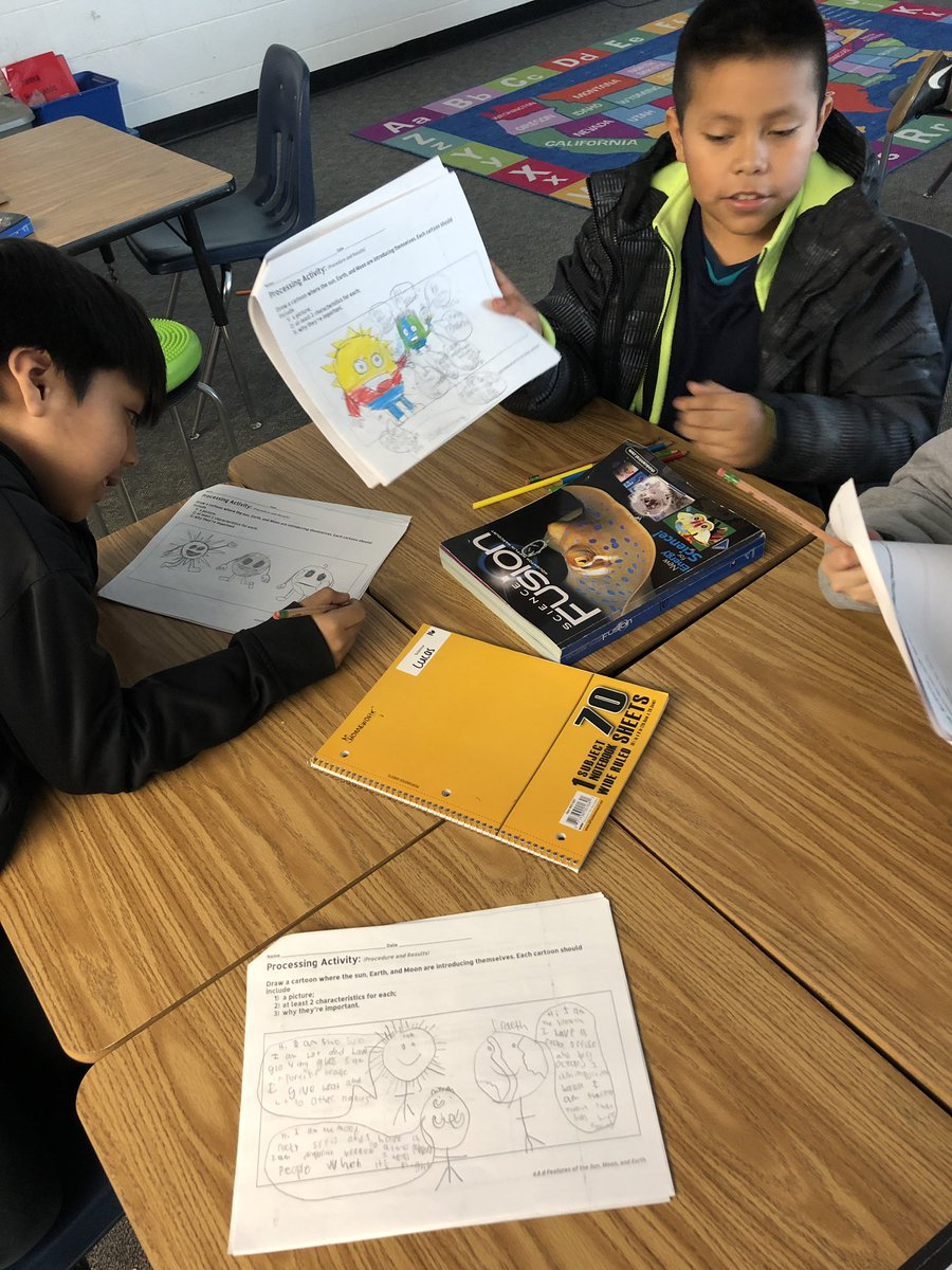 Ss create cartoons of the earth, moon and sun. Each introduces itself by naming characteristics and why each is important. Look familiar, <a target='_blank' href='http://twitter.com/manley1989'>@manley1989</a>?  <a target='_blank' href='http://search.twitter.com/search?q=KWBpride'><a target='_blank' href='https://twitter.com/hashtag/KWBpride?src=hash'>#KWBpride</a></a> <a target='_blank' href='https://t.co/gY1kQ7M5B6'>https://t.co/gY1kQ7M5B6</a>