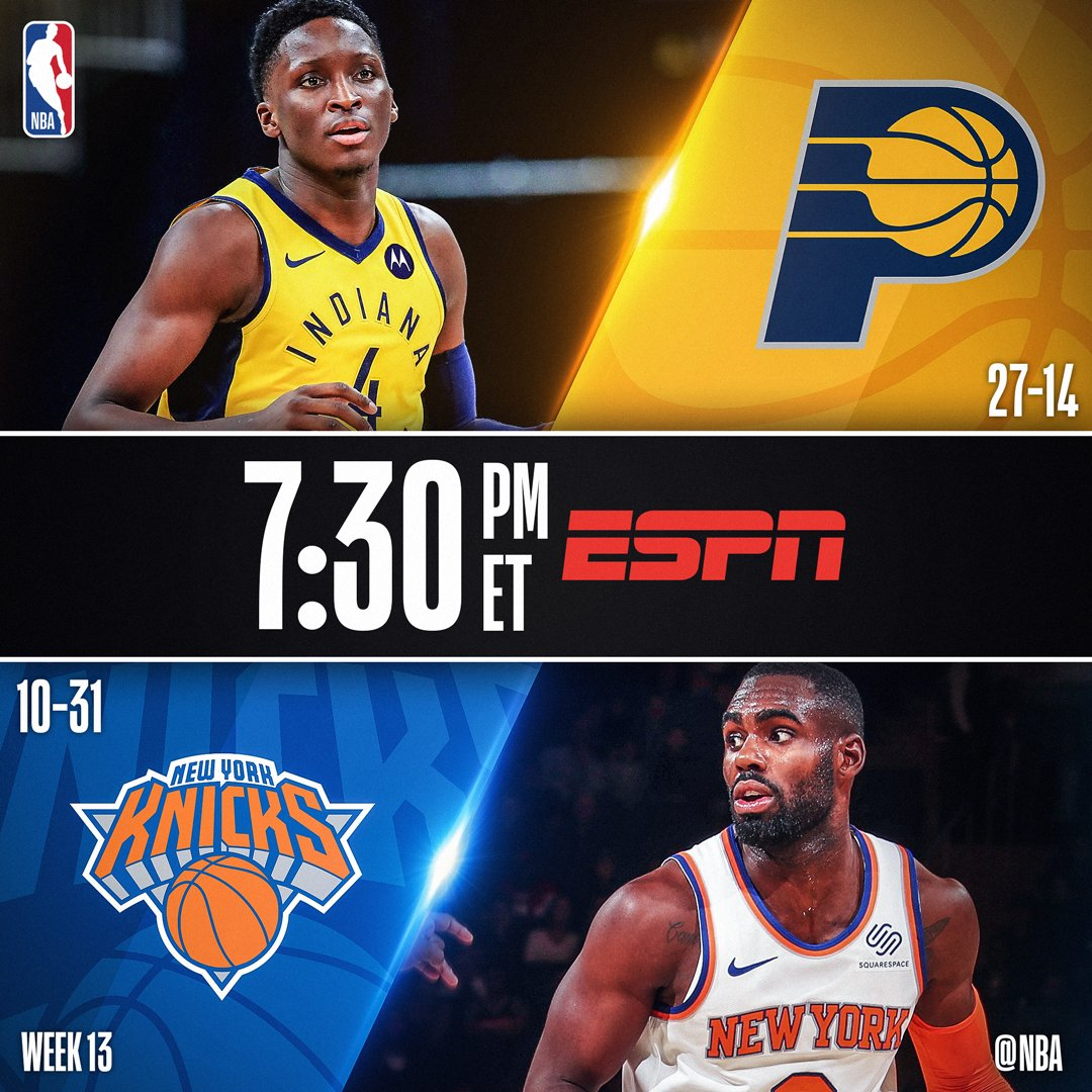 Tonight's @ESPNNBA action features...  7:30pm/et: @Pacers x @nyknicks  10:00pm/et: @Lakers x @utahjazz https://t.co/uKHrmziACR