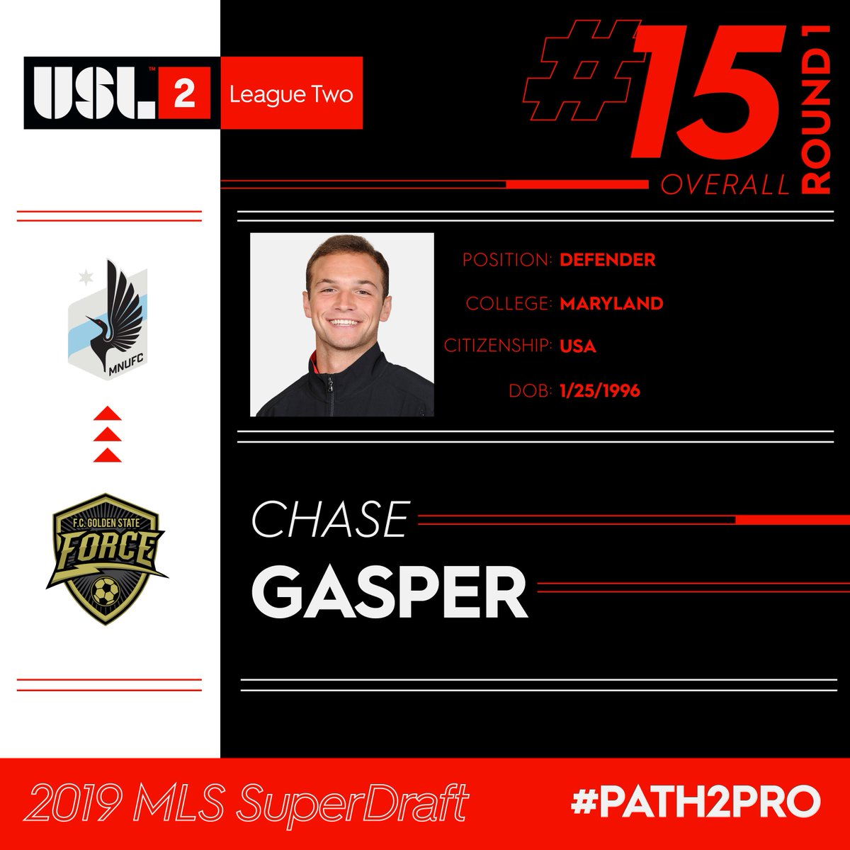 USL League Two's photo on Chase Gasper