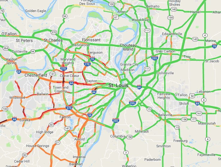 Fox2now On Twitter Current Traffic Map Stl Stlwx Can You Tell