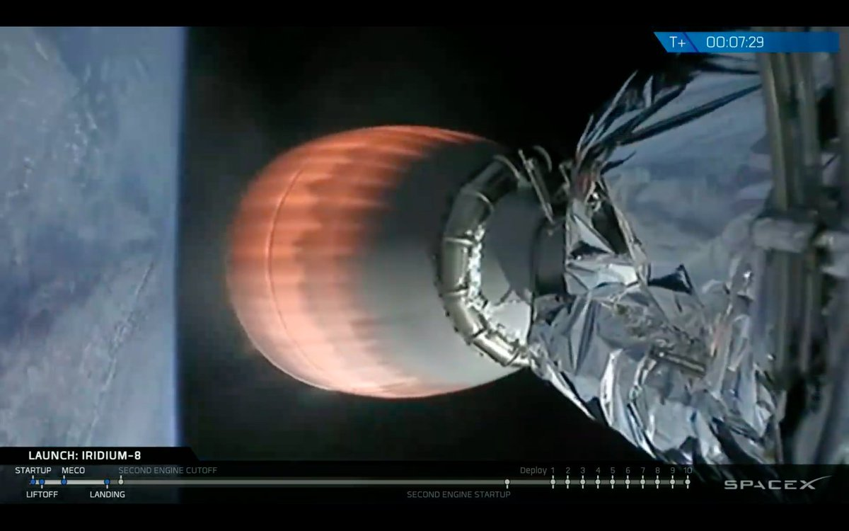 Spaceflight Now On Twitter The Falcon 9 Rockets Second Stage Has
