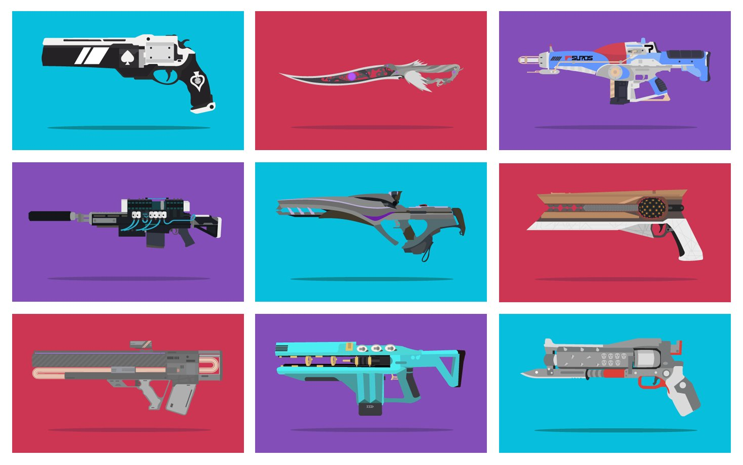 Exotic Weapons Illustrations