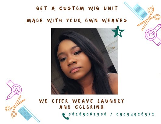 Hello #AbujaTwittercommunity Please if you need someone to make beautiful wigs for you, I'm readily available. I can source for quality weaves for you or just use your own weaves to make any kind of wig. My DM is wide open. Please help me RT <br>http://pic.twitter.com/tksipNaWKY