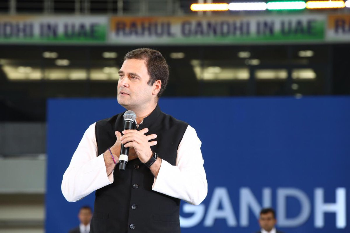 We can never run a country like India believing that only one idea is correct and all other are wrong. Today, my beloved country India is being divided for political reasons: Congress Presiden @OfficeOfRGt   #RahulGandhiInDubai