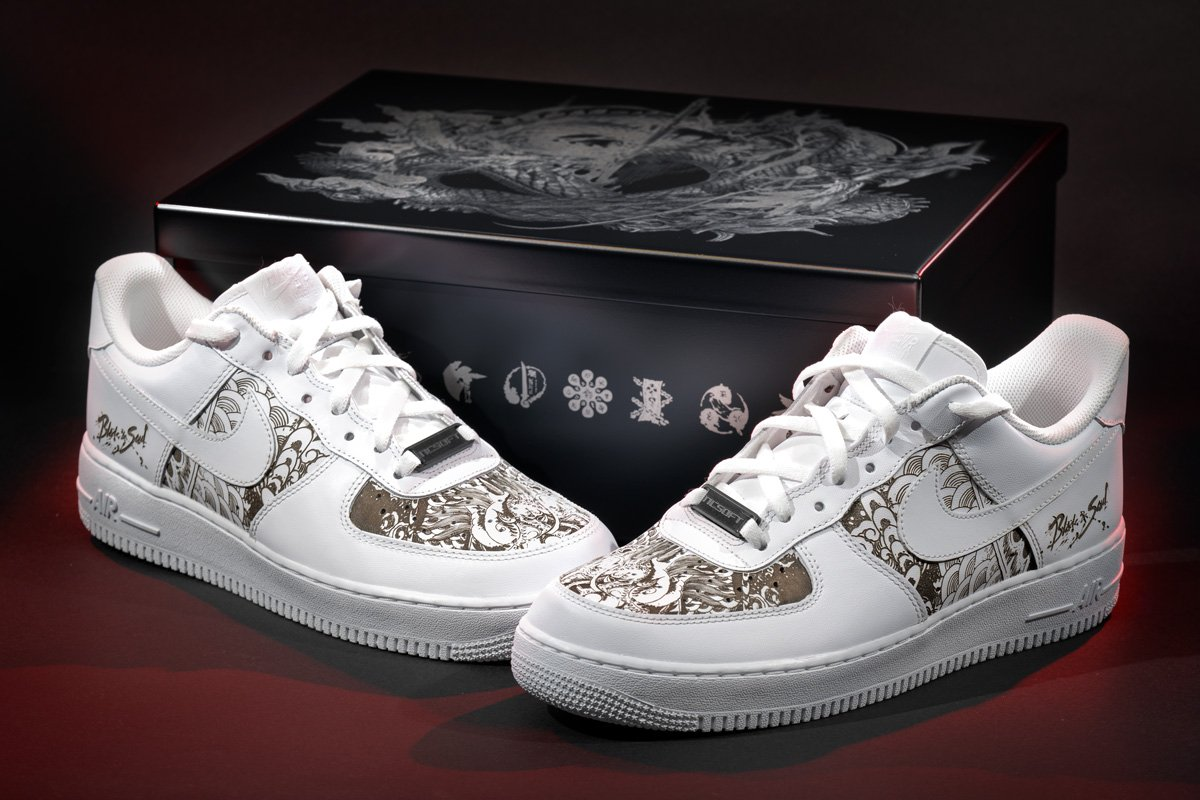 07504ccb5b3a ... we are giving away Nike Air Force 1 kicks customized by Space Monkey  Designs. Details on how to slip these on your feet will be available next  ...