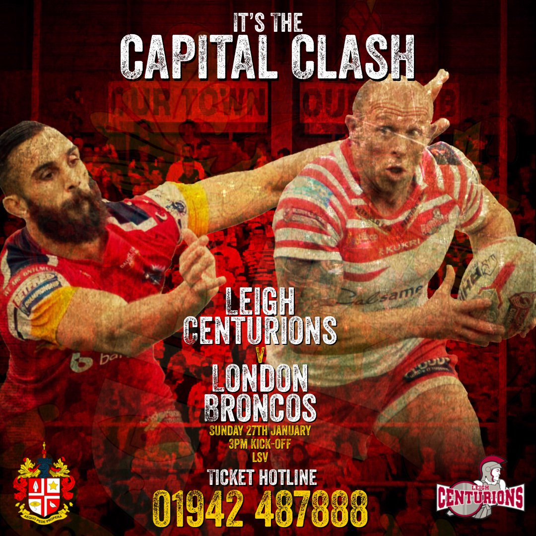 Tickets are now on sale for our pre-season warm up game against newly promoted @SuperLeague side @LondonBroncosRL.   Let's show our new boys what the Leythers are all about! Let's get @lsvstadium rocking for them! #OurTownOurClub