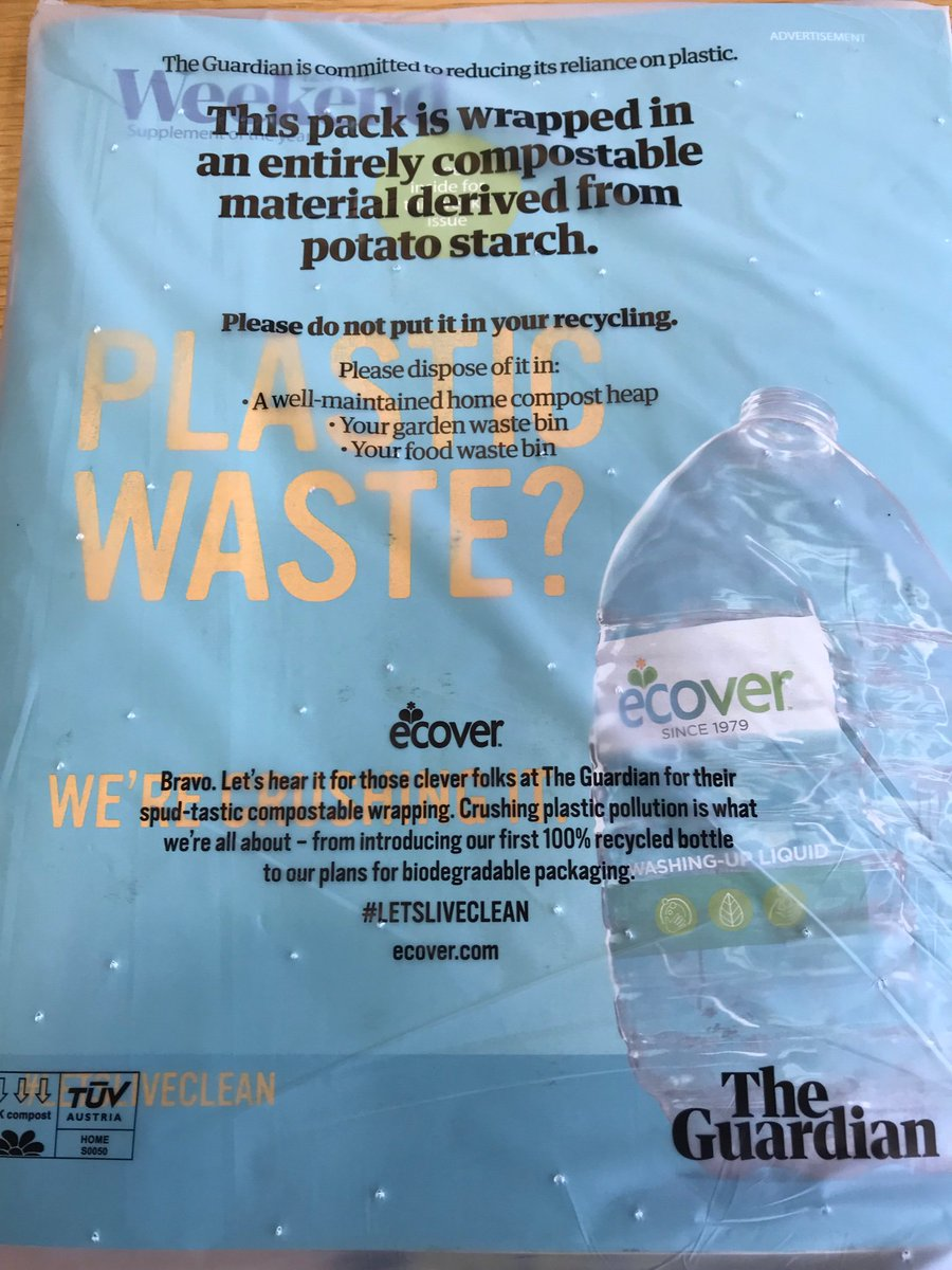'The Guardian' Swaps Out Plastic for Compostable Wrapping to Reduce Harmful Waste