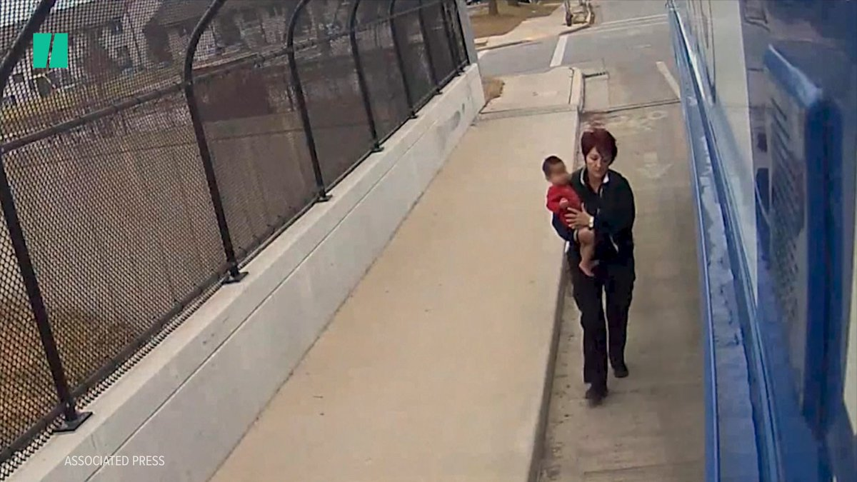 This infant was found wandering across an overpass alone in frigid temperatures.
