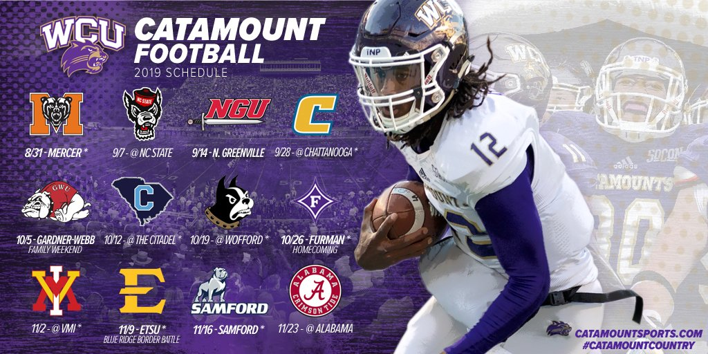 The 2019 WCU Football Schedule