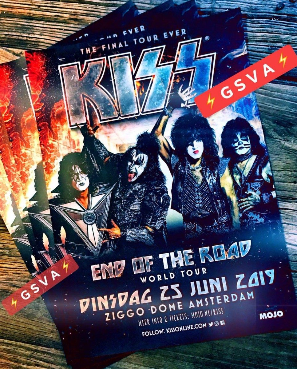 #EndOfTheRoad Thanks Mark Laurenz for sharing these #KISS #Amsterdam concert flyers with us. See you in June. #KISSARMYROCKS<br>http://pic.twitter.com/hWtz9ql8uA