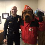 Image for the Tweet beginning: McGruff is supporting the Chiefs