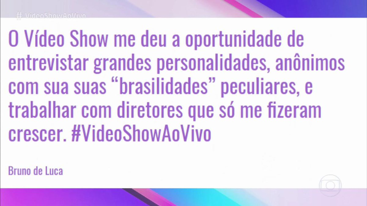 Globo's photo on #videoshowaovivo