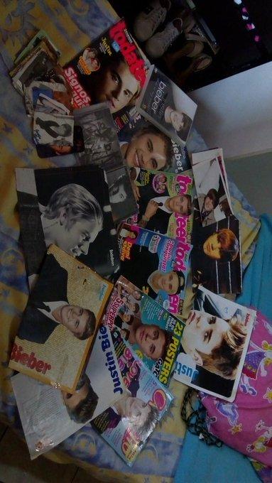 Uma parte da minha coleção do Justin ❤️ #10YearsOfBieber Photo