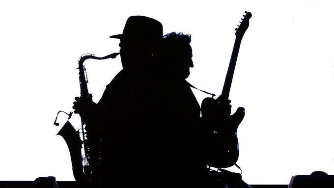Happy birthday, Big Man! Clarence Clemons and Bruce at the 2009