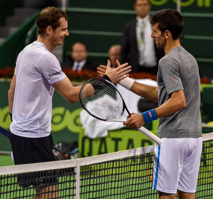 Djokovic on Murray: It's quite a shock for me honestly because we are the same age, the same generation. He's a great champion, he's a friend of mine that I grew up with. 'It's kind of sad to know that he might play his last Australian Open but I do wish him all the best. Photo