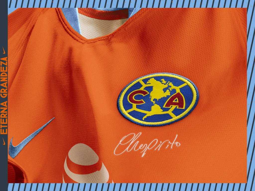 83a098dd95 A  Nike lançou a nova terceira camisa do  América do  México em homenagem a   Chespirito  ElChanfle. ...