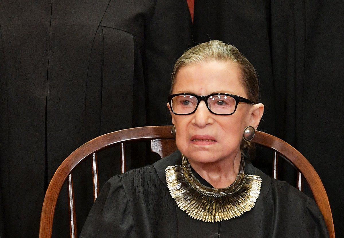 JUST IN: No remaining disease has been found in Justice Ruth Bader Ginsburg's body, the U.S. Supreme Court says, adding that her recovery from surgery is 'on track'