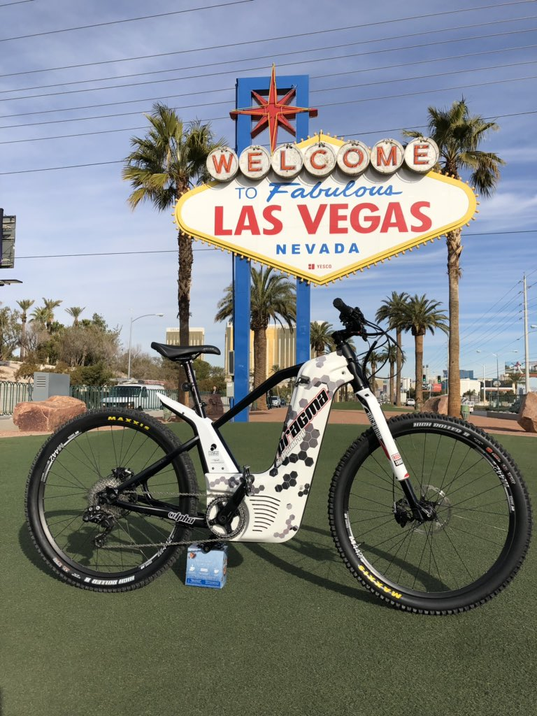 Last day to test the only fuel cell-powered mountain bike at #CES2019. Meet us booth 1301, Westgate, Smart cities. #h2bike