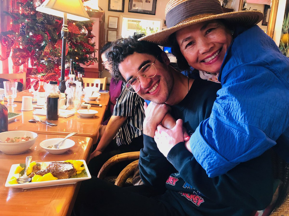 """Morning after Golden Globes celebration was full of Filipino treats including this fun spritely lady with me ... """"who dreamed of coming to this country and getting invited to glamorous parties like this..."""" Well Mom, I'm glad you made it. <br>http://pic.twitter.com/oth55Ug8px"""