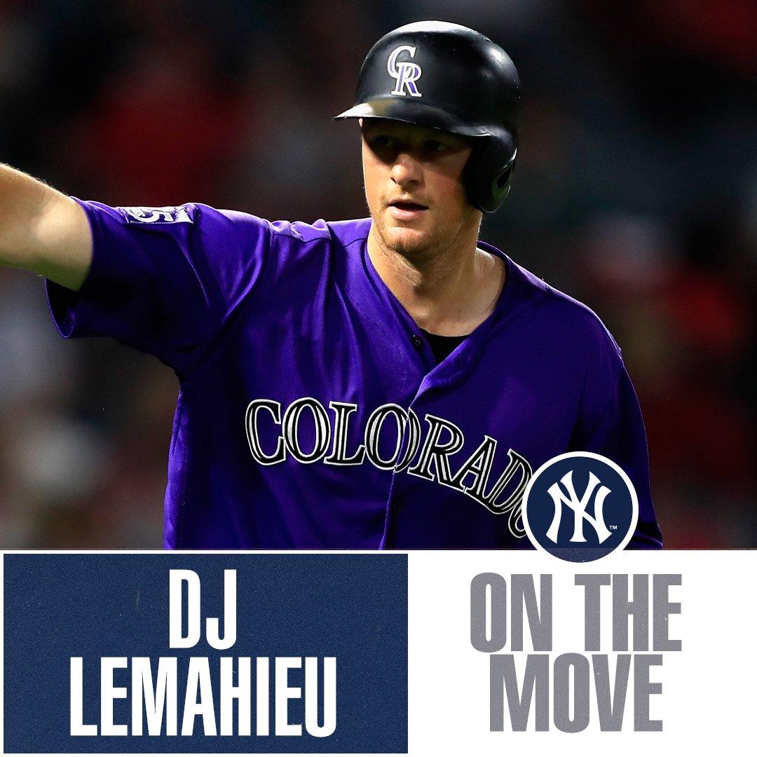 .@Yankees, DJ LeMahieu close to 2-year deal, reports @Ken_Rosenthal. Club has not confirmed. https://t.co/mFnHKxThP4 https://t.co/HnxFWwO3tt