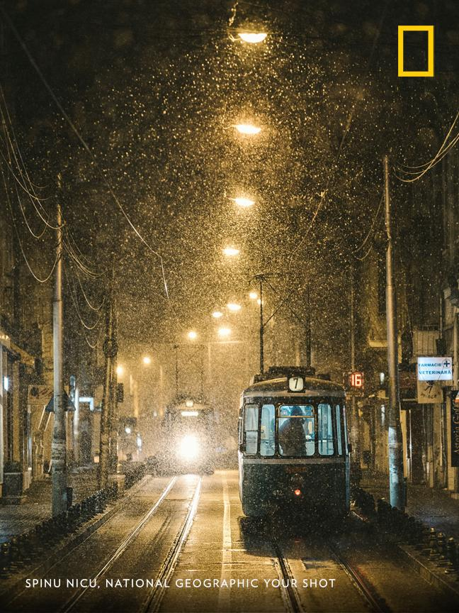 'It was a lovely February night, when it started snowing hard,' writes photographer Spinu Nicu. 'I grabbed my camera and went out for some street photography.' https://t.co/yWlPj8NKmV