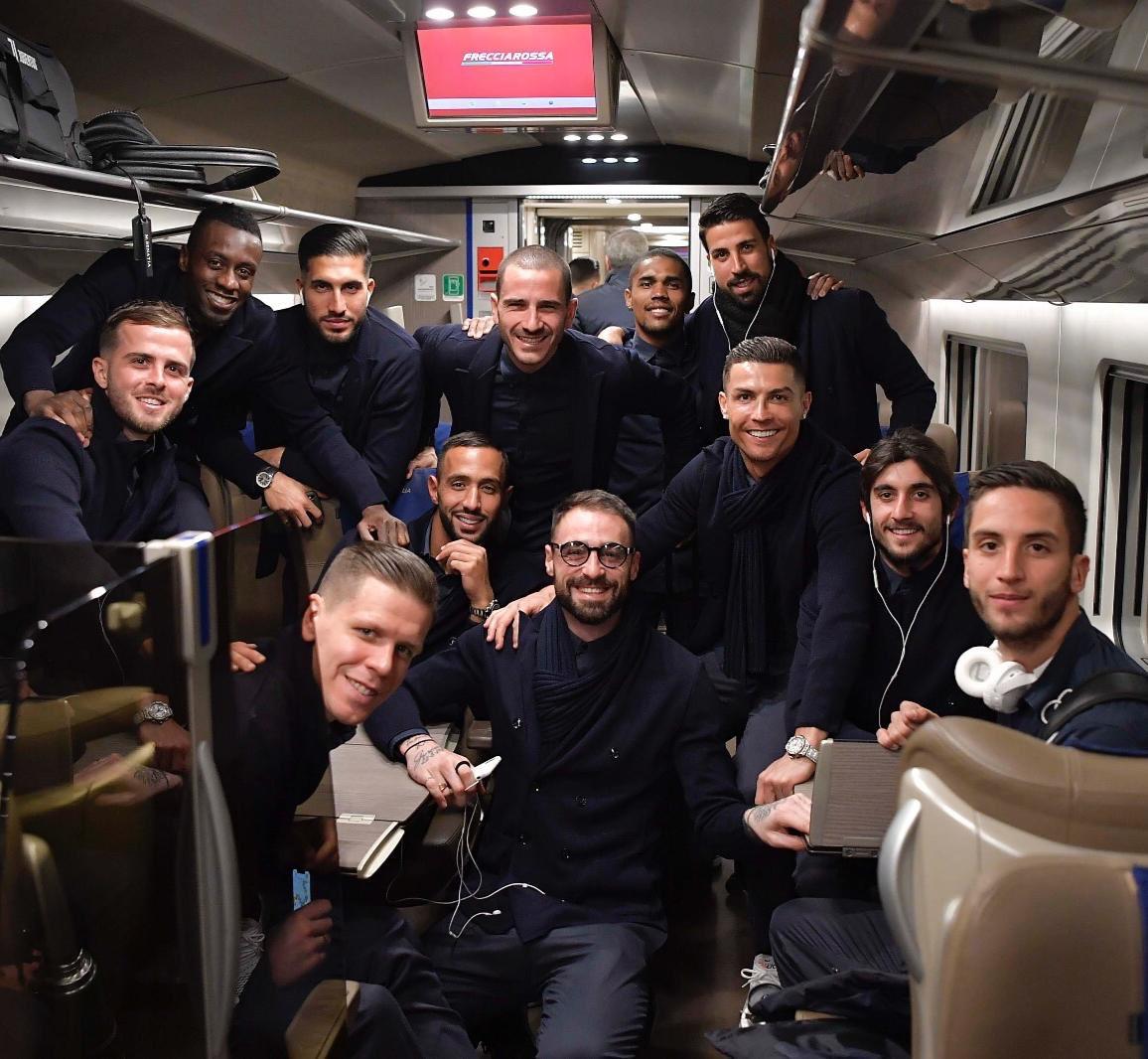First stop in 2019: Bologna 😉🚅 #BolognaJuve #CoppaItalia @juventusfc